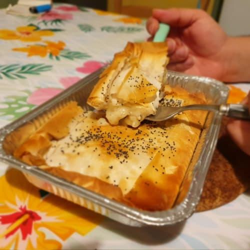 Torta salata di pasta fillo cremosa