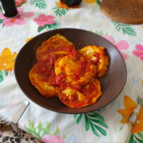 Tortelloni pomodoro e mozzarella piccanti!