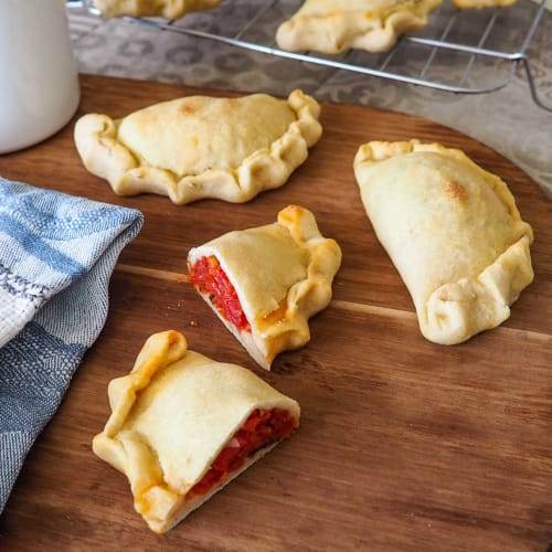 Light panzerotti, baked in the oven