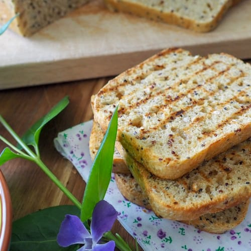 Sliced cereal bread