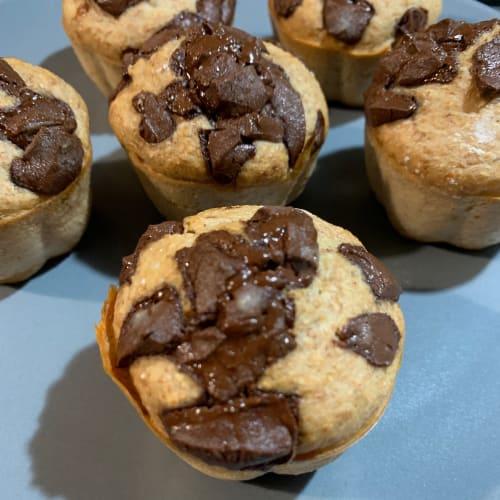 Muffin integrali con cioccolato fondente