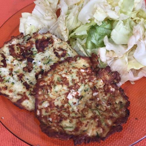 Feta zucchini fritters