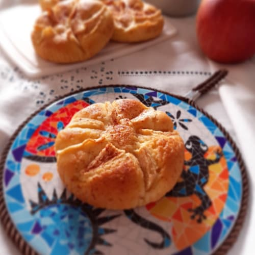 Cupcakes esponjosos con ricotta y manzanas