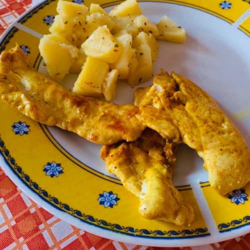 Pechuga De Pollo Al Horno Con Cúrcuma Y Jengibre
