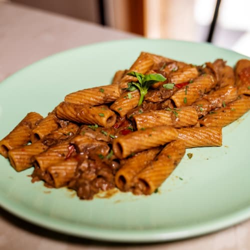 Pasta De Trigo Integral Con Champiñones Porcini