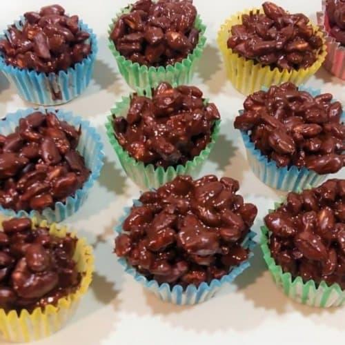 Dolcetti di cioccolato e riso soffiato