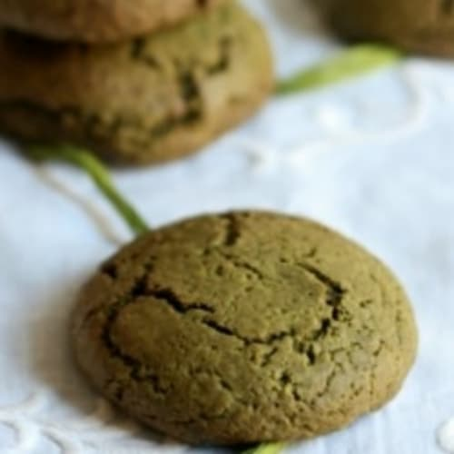 Matcha tea biscuits