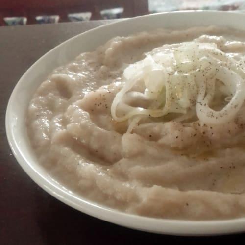 Sopa de coliflor y puerro