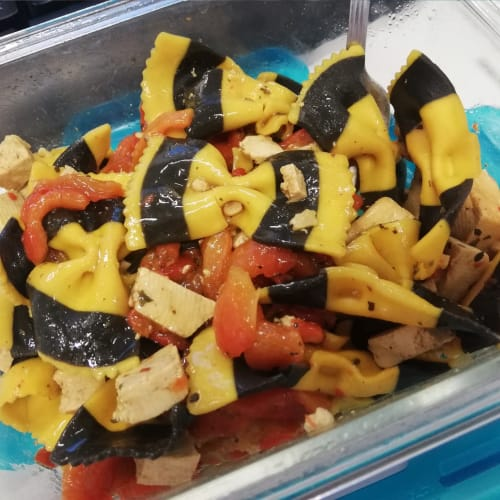 Sughetto di peperoni e tofu