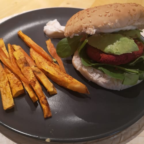 Burger di barbabietola
