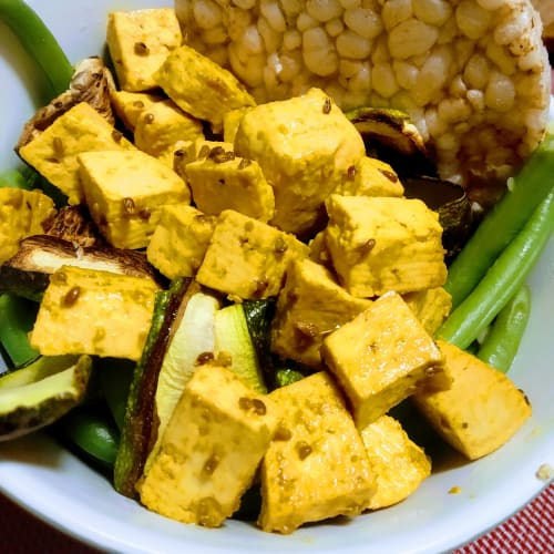 Fast and healthy flavored tofu