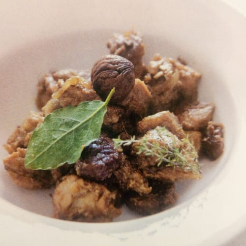 Beer stew with chestnuts