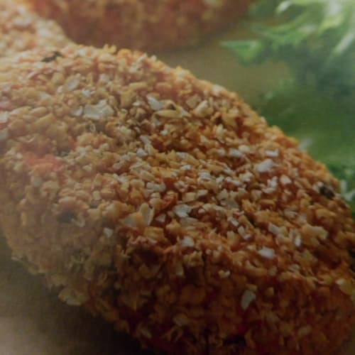 Simple croquettes of sweet potatoes.