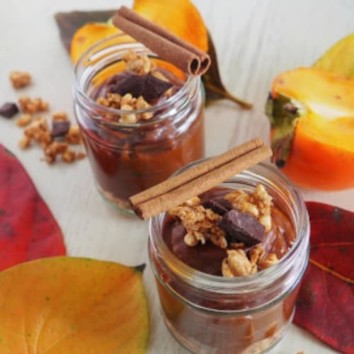 Magical pumpkin and persimmon pudding