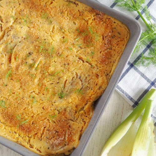Fennel and potato pie