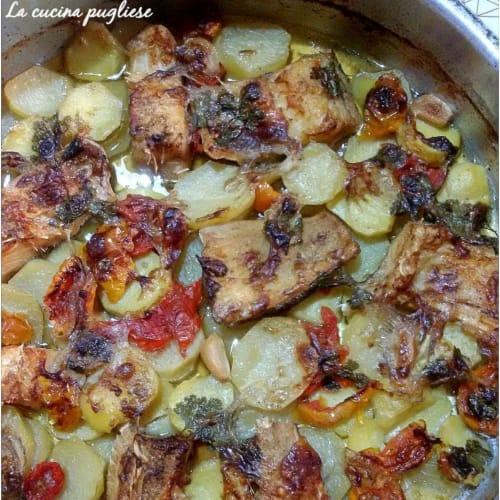 Bacalao al horno con patatas Salento