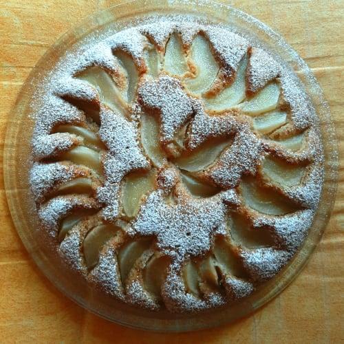 Pastel de trigo sarraceno y pera