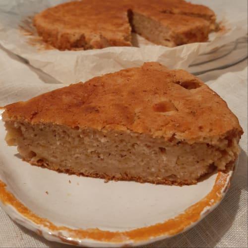 pastel de manzana vegano