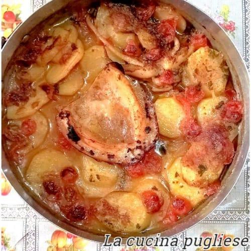 Seppia Al Forno Con Pomodori E Patate