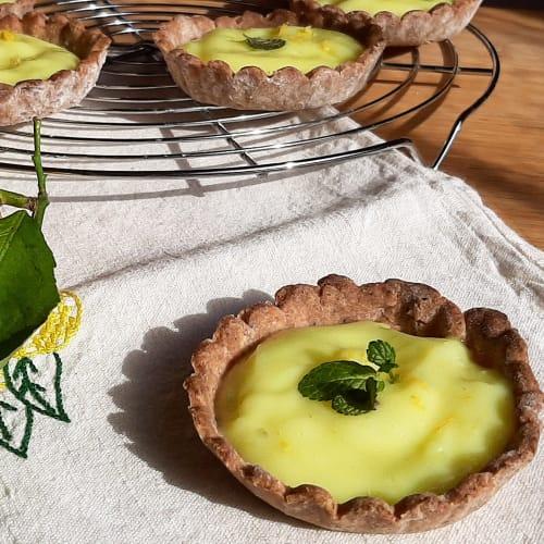 Tartaleta de trigo sarraceno con crema de limón