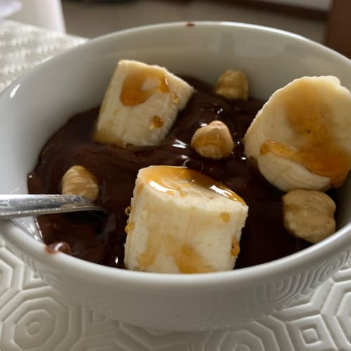 Cocoa and banana ice cream