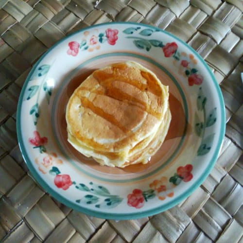 Pancakes with egg whites added