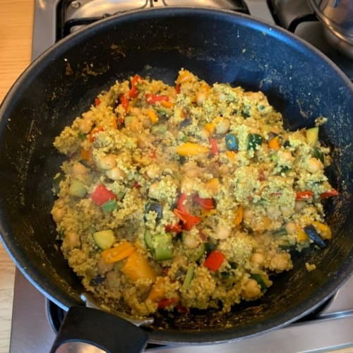 Chickpea and curry couscous