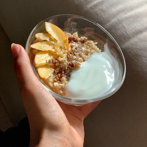 Porridge alle pesche