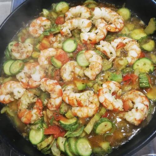 Zucchine e Gamberetti