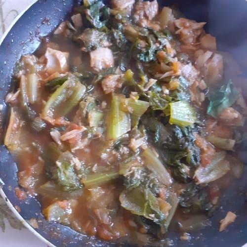 Tonno e insalata cotta al pomodoro
