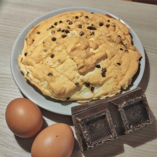 Cloud bread con gocce di cioccolato