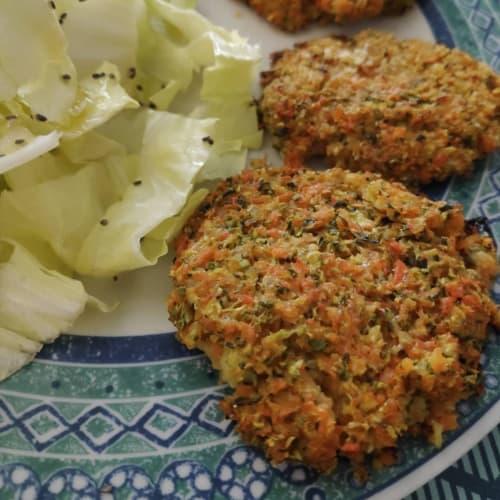 Burger di carote e zucchine
