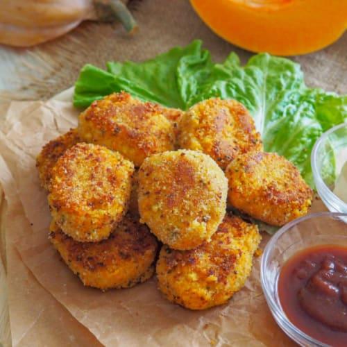 Pumpkin vegan nuggets