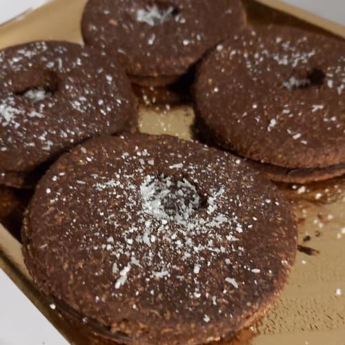 Biscotti vegan cocco e cioccolato