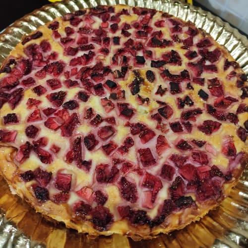 Torta ricotta e fragole