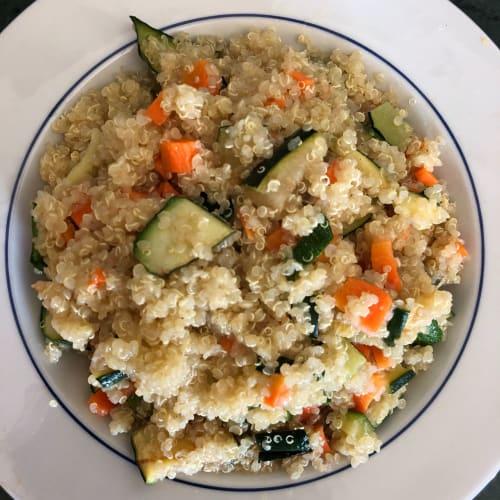 Quinoa alle due verdure
