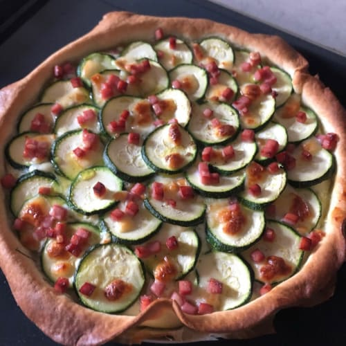 Torta salata cotto e zucchine