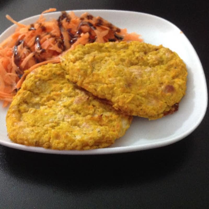 Hamburguesa de zanahorias y judías