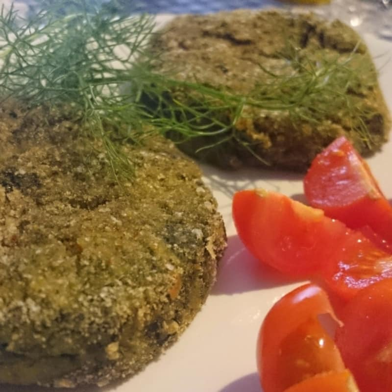 Burger di spinaci e patate