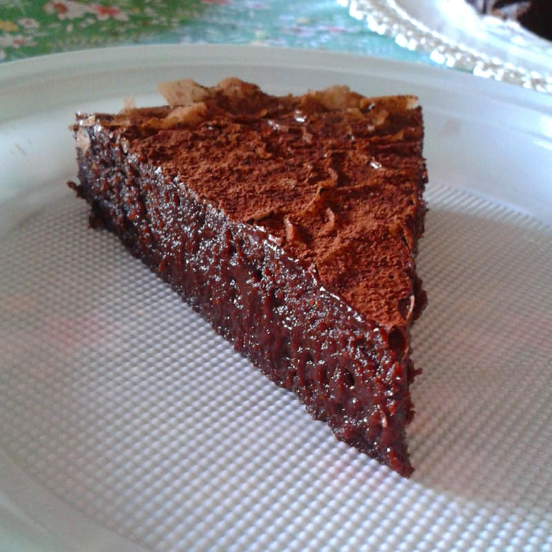 pastel de chocolate fudge