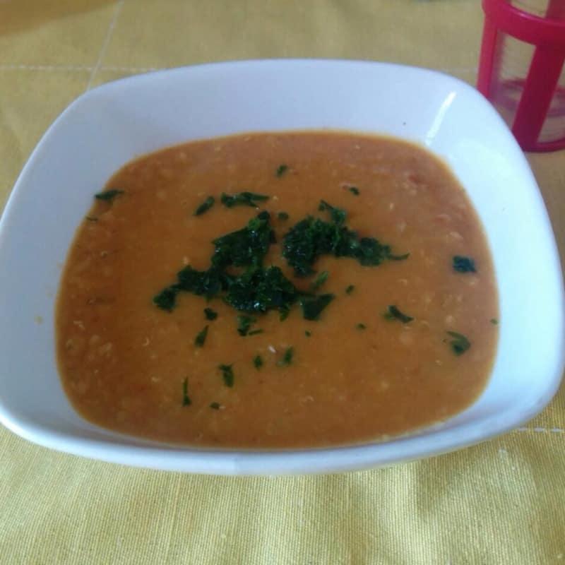 Dahl zuppa indiana di lenticchie rosse
