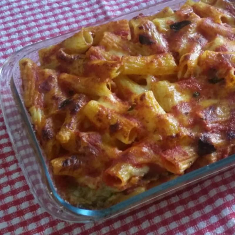 Pastas con el horneado vegetariano