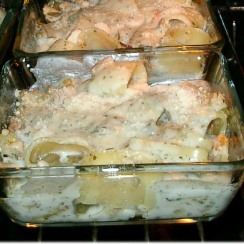Terrinetta di pasta gratinata con ragù ai carciofi