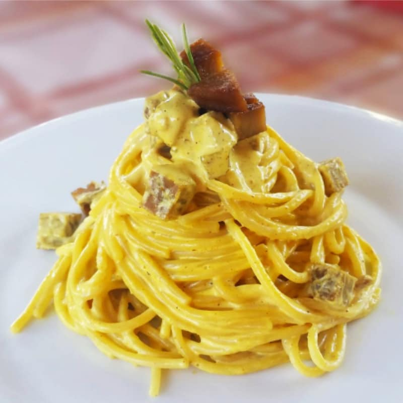 Carbonara vegetariana