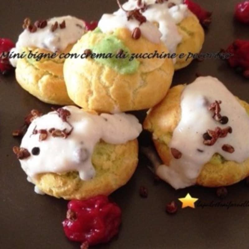 bocanadas Mini con calabacín y queso crema