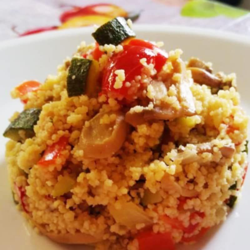 Cous cous with vegetables oriental flavor