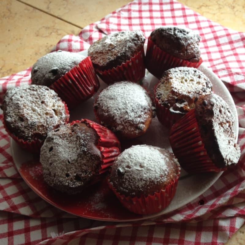Muffin banana e cioccolato senza lattosio