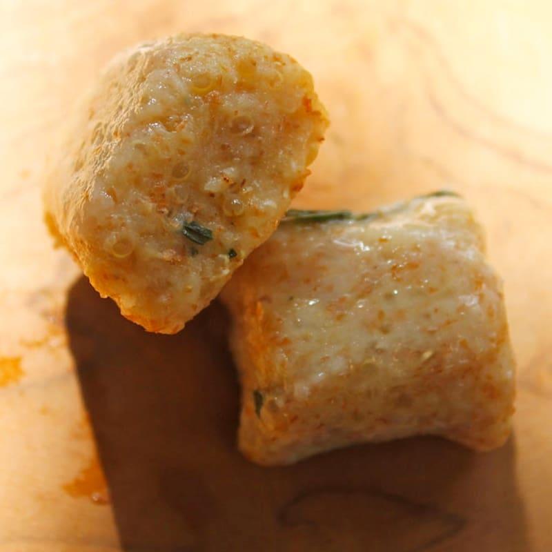 Gnocchi di farro y la quinoa