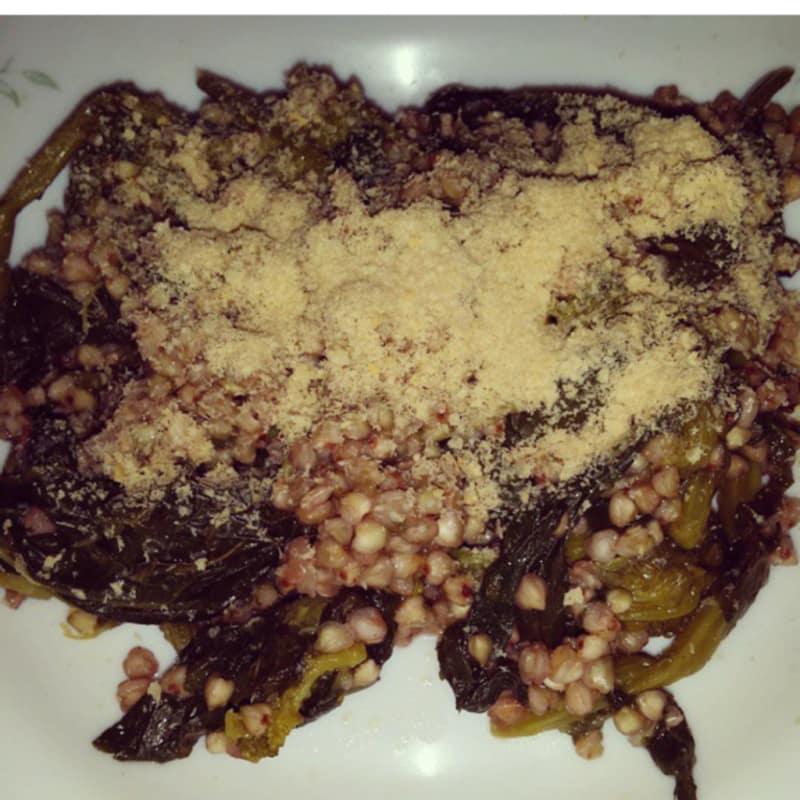 Trigo sarraceno con brócoli