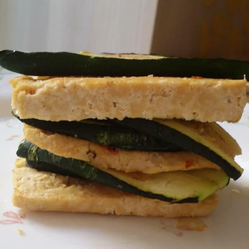 Feuille de tofu y calabacín